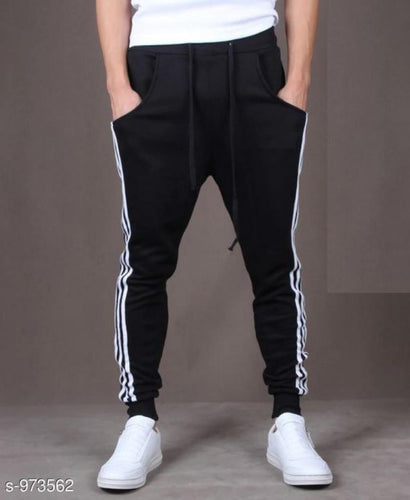 Men's Casual Solid Track Pants Black S973562