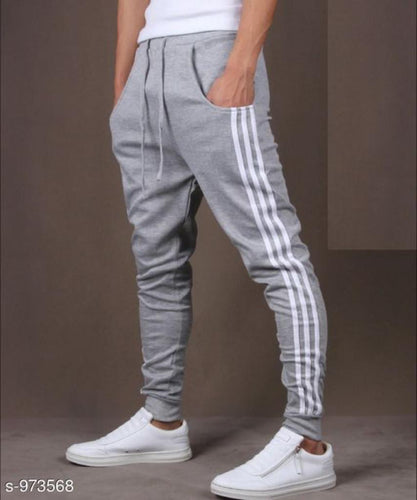 Men's Casual Solid Track Pants Grey S973568