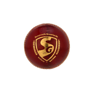 SG Bouncer™ Red Leather Cricket Ball