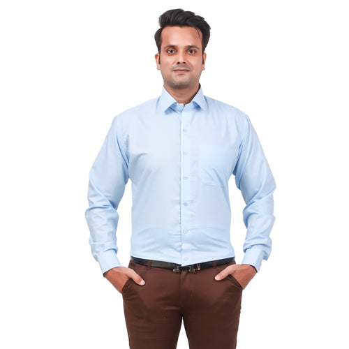 Attractive Men's Formal Cotton Shirt Sky Blue