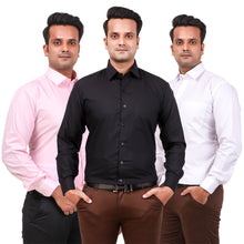 Load image into Gallery viewer, Attractive Men's Formal Blend Cotton Shirts Combo Pack of 3