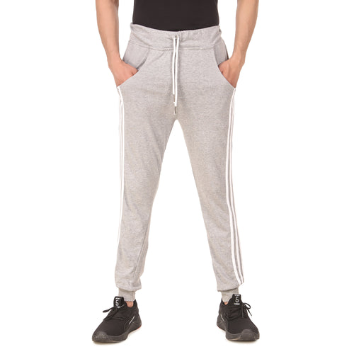 Men's Casual Solid Track Pants Grey