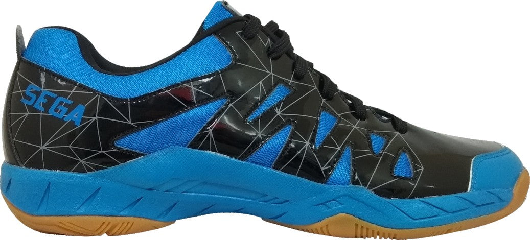 Sega Lotus Badminton Shoes (Black/Blue)