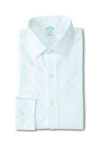 Brooks Brothers White Spread Collar 40