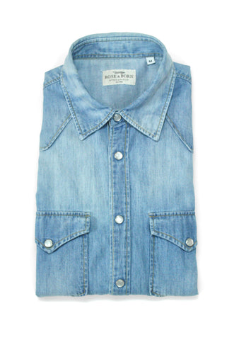 Rose & Born - Western Denim Shirt M
