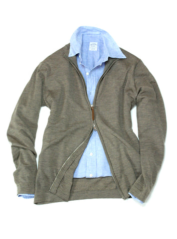 Full-zip merino Sweater S