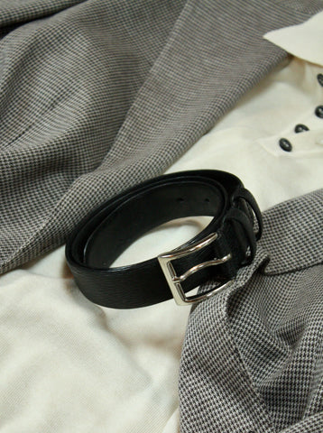 Black Epi leather belt 85 cm