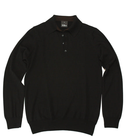 Oscar Jacobson Long-sleeve Polo Shirt S