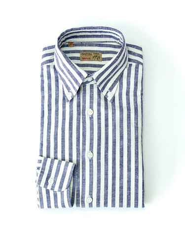 Barba Napoli - Denim Bengal Stripe BD. Shirt 40