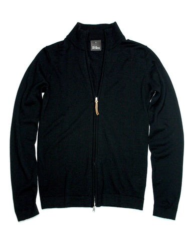 Full-zip merino Sweater Black S