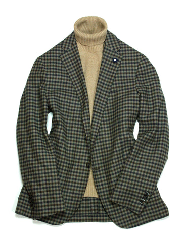 Lardini - Wool Check Sports Jacket 54