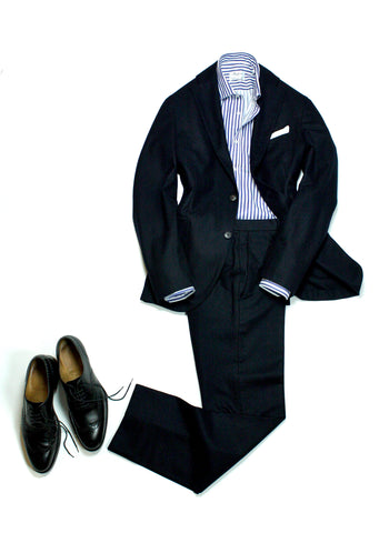 Boglioli –Navy Flannel Suit 48