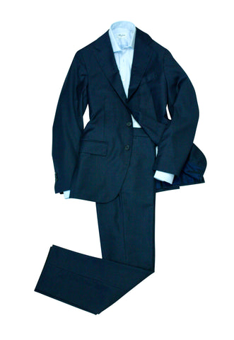 Gabucci – Mini Check Navy Wool Suit 48