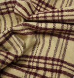 Merino Wool Check Scarf
