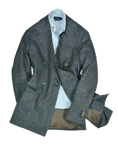 Suitsupply - Checked linen and Silk DB. Jacket 50