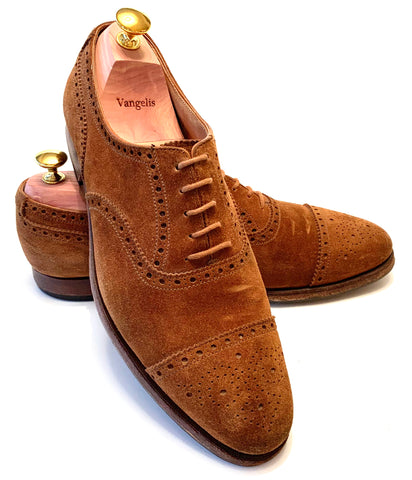 Crockett & Jones - Westfield in Tobacco Suede UK 8,5