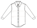 A.W. Bauer - Crisp White Cut Away Shirt 42