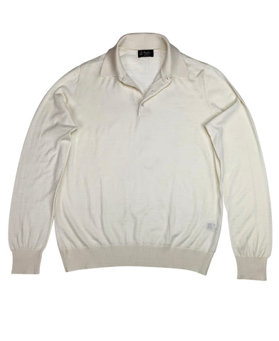 Maglificio - Long Sleeve Cream Polo M