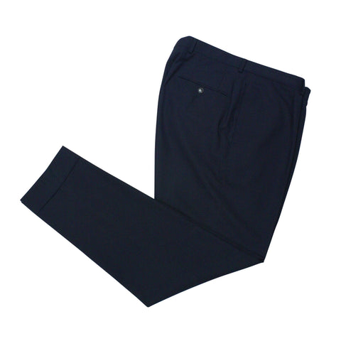 Oscar Jacobson - High Rise Single Pleat Navy Wool Trouser 146