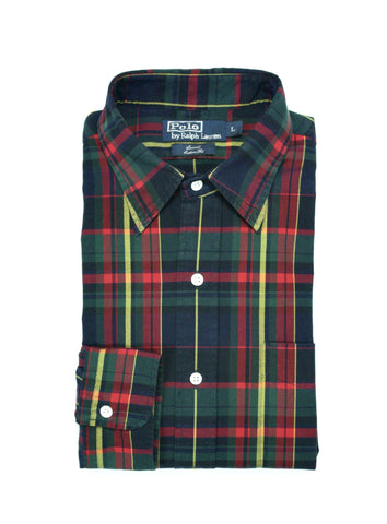 Ralph Lauren - Point Collar Tartan Check Shirt L