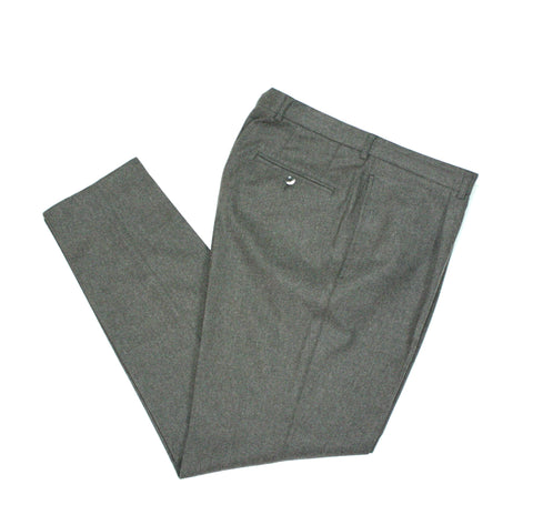 Oscar Jacobson - High Rise Single Pleat Flannel Trousers 50