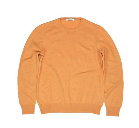 Gran Sasso - Virgin Wool Pale Orange Crewneck M