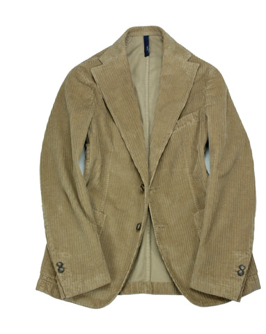 Jerry Key - Beige Unconstructed Cord Sports Jacket 48