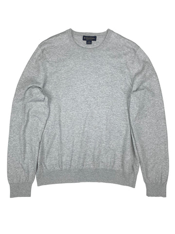 Brooks Brothers - Light Grey Supima Cotton Sweater M