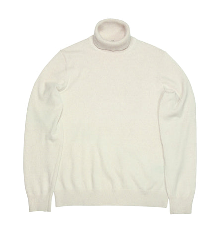 Uniqlo - White Cashmere Rollneck S