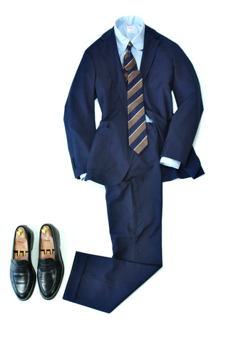 Belvest - Unlined and Unconstructed Navy Suit 50