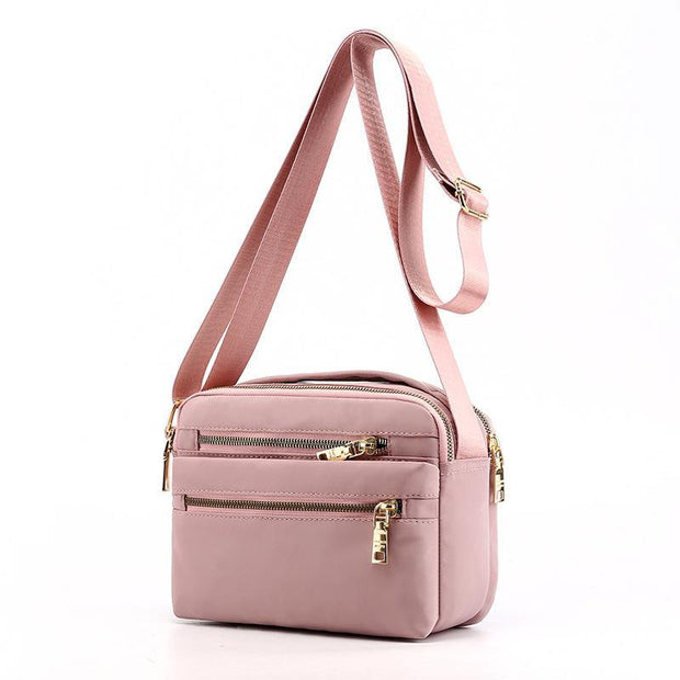 Large capacity candy color shoulder bag waterproof nylon bag light outdoor travel Messenger bag 134459