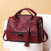 Women Soft Leather Solid Crossbody Bag Leisure Shoulder Bag