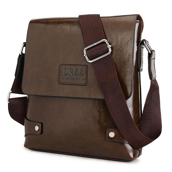 Men Business PU Leather Messenger Briefcase Shoulder Bag Crossbody Bag