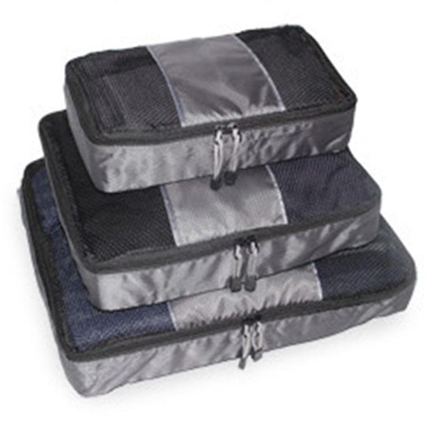 3 Pieces Oxford  Zipper Waterproof Organizer Packing bags