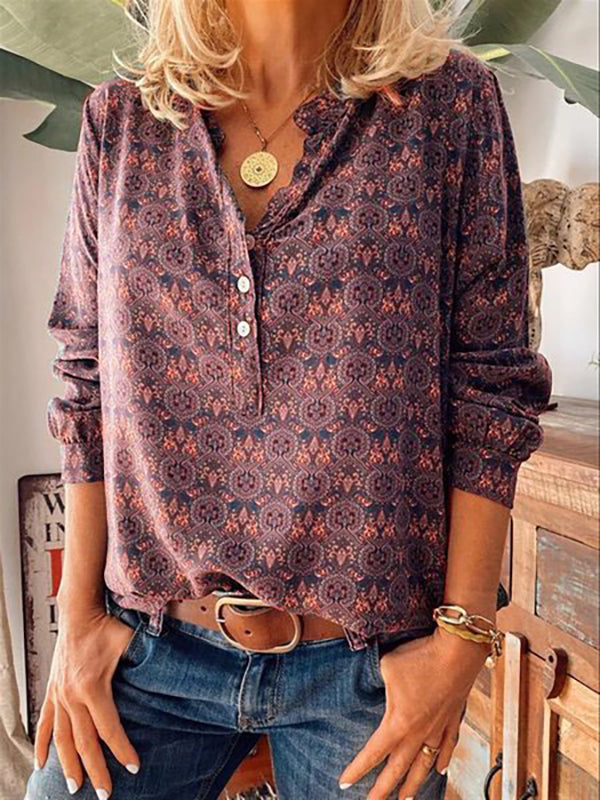 Women's Floral Casual Printed Shirts & Tops