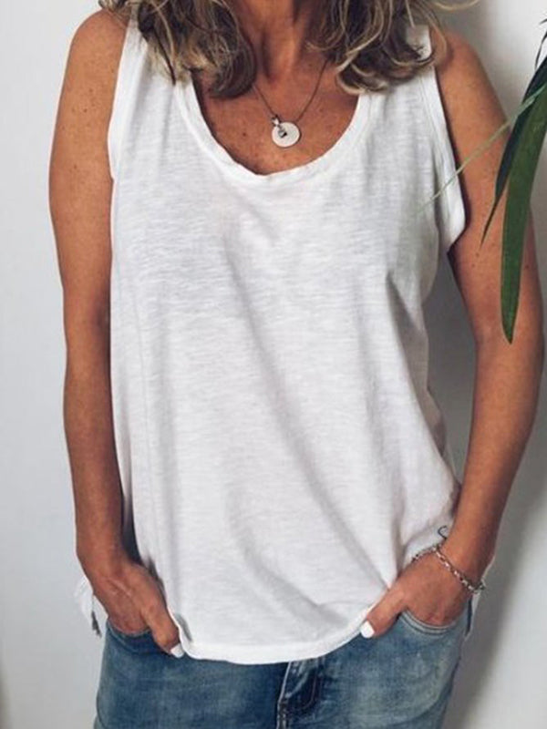 Women's Summer Crew Neck Casual Tanks
