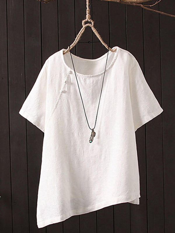 Women's Casual Short Sleeve Round Neck Tops