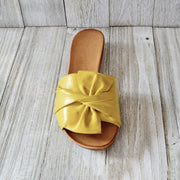 Women's Comfy Leather Bow Slippers