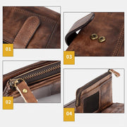 RFID Genuine Leather Long Wallet Purse