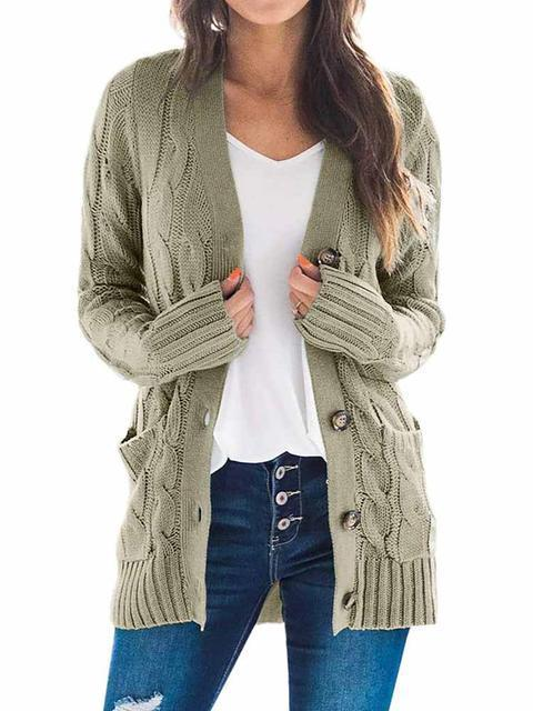Casual Solid Loose Cardigan