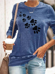 Cozy Paws Print Top