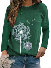 Women's Round Neck Long Sleeve Casual Tops