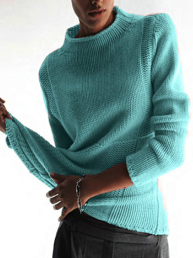 Fashion Talent Elegant Long Sleeve Casual Paneled Sweater