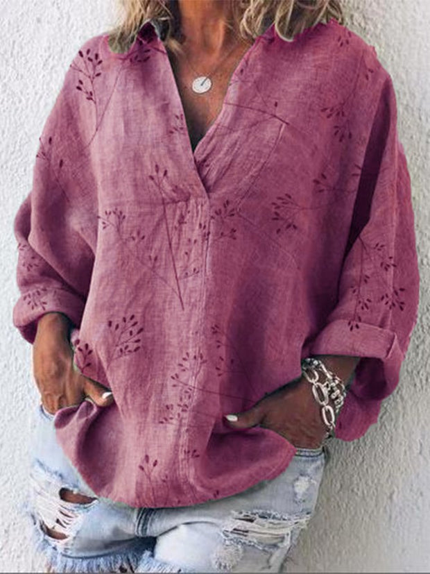 Casual blouses & shirts with V-neck and long sleeves