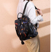 Women Oxford Bag Printing Design Anti Theft Backpack