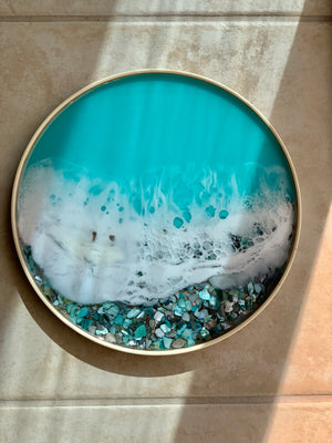 Seashells Tray - Beach Waves