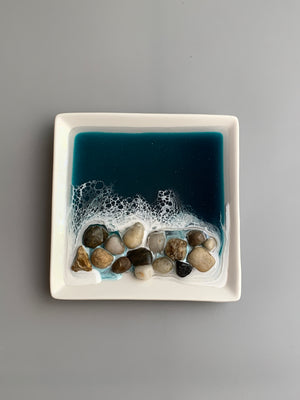 Emerald Decorative/Ring Dish - Rocks