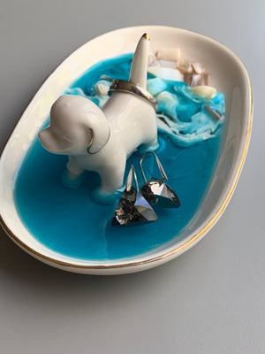 Dog Ring Dish - Mother of Pearl Seashells