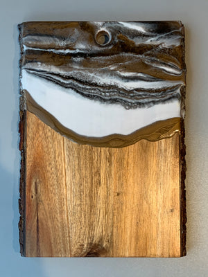 Live Edge Serving Board - White Gold
