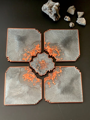 Agate Coasters - Silver Grey